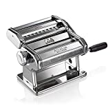 Marcato Design 8320 Atlas 150 Pasta Machine, Made in Italy, Includes Cutter, Hand Crank, and Instructions, Silver