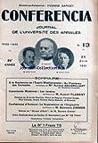 CONFERENCIA [No 13] du 20/06/1931 - AU FLAMBEAU DES CROISADES PAR ALFRED...