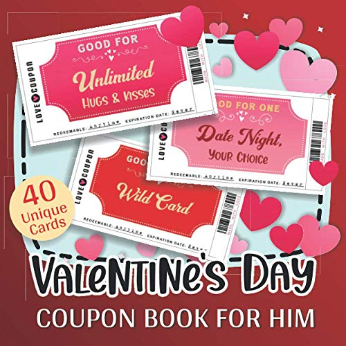 Valentine's Day Coupon Book for Him: Full-Color Fun &...