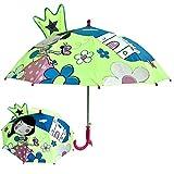 RSZHHL Paraguas Lindo Paraguas para niños con Animales 3D, para niños, niños, Dibujos Animados, Mango Largo, Paraguas para Herramientas para niños,10