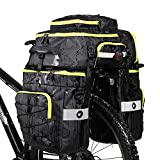 Rhinowalk Bike Bag Bike Pannier Bag Set,(for Bicycle Cargo Rack Saddle Bag Shoulder Bag Laptop Pannier Rack Bicycle Bag Professional Cycling Accessories 3 in 1-Green