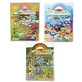 Melissa & Doug Reusable Puffy Sticker Wild Adventures Bundle: Safari, Dinosaur and Ocean