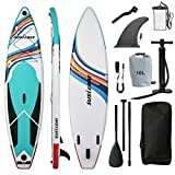 SUSIEBAY Ultra-Light 11'x33 x6 Inflatable Stand Up Paddle Boards, Yoga Board, Floating Paddle for Adults Youth and Kids with Camera Mount for All Levels of Surfing