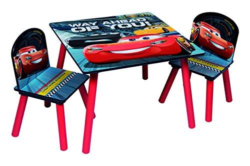 Disney Cars Sitzgruppe Tisch 2 Stühle aus Holz, Cars3 Kindermöbel