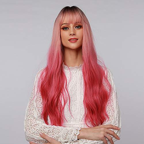 HAIRCUBE pelucas sintéticas onduladas largas Ombre mezcla d