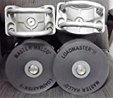 2 Master Halco Loadmaster II Nylon Cantilever Gate Rollers for 4' Gate Post - Fits 2-3/8' or 2-1/2' Frame