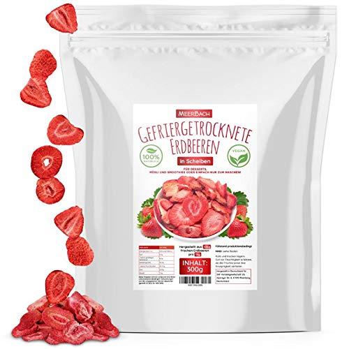 Erdbeeren gefriergetrocknet • 300g gefriergetrocknete Früchte in Scheiben • selbstverständlich frei von Zusatzstoffen • fruchtig • in Deutschland hergestellt