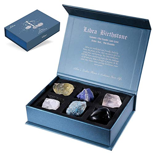 Faivykyd Libra Crystal Gift-Zodiac Sign Stones to Complement...