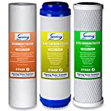 iSpring F3 6-Month Prefilter Replacement Supply Filter Cartridge Pack Set for Standard Reverse Osmosis RO Systems, F3
