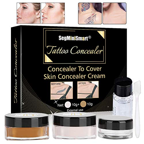 Tattoo Cover,Tattoo Concealer,Concealer,Tattoo Entferner,Professionelle Wasserdichte Tattoos vertuschen Make-up Concealer Tattoo Narbe Muttermale Vitiligo Set