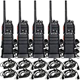 Retevis H-777S Two-Way Radios Long Range Rechargeable FRS Radio Vox Security Commercial Walkie Talkies with Earpiece Headset for Adults (10 Pack)