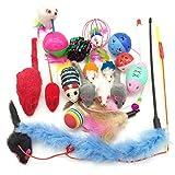 PietyPet Jouets Chat, Jouet pour Chat Animaux Domestiques Toys pour Chat Chaton Minou, 18 pièces