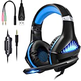 BlueFire Upgraded Professional PS4 Gaming Headset 3.5mm Wired Bass...
