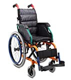 Medmobile Self Transporting Pediatric Wheelchair for Kids with Folding Back and Seat Cushion