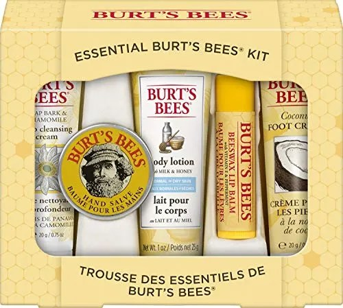 Burt's Bees Essential Gift Set, 5 Travel Size Products -...