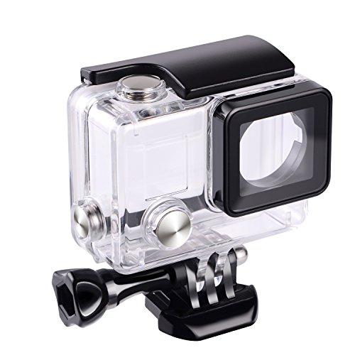 Suptig Custodia protettiva di sostituzione, impermeabile, per macchina fotografica GoPro Hero 4, 3+, 3, per uso subacqueo, impermeabile fino a 45m