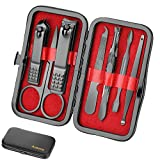 Manicure Set Men Nail Clipper Kit Luxury Manicure 8 In 1 Stainless Steel Professional Pedicure Set Grooming kit Gift for Men Husband Boyfriend Lover Parents Women Elder Patient Nail Care