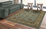 Ottomanson Royal Traditional Oriental Area Rug, 7'10' X 9'10', Sage Green