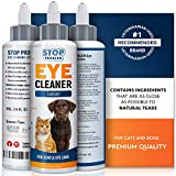 Beloved Pets Eye Cleaner for Dogs and Cats - Tear Stain & Dirt Crust Remover - Infection Control Drops - Gentle Eye Wash Lotion for Pets