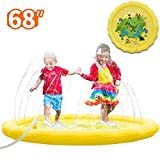 SUNFATT Splash Pad for Kids,Mini Pool,Outdoor Sprinkler Toy Suitable for Family and Friends Interactive Mini Safe Baby Pool in Summer.