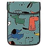 13.4 pulgadas caja del ordenador portátil bolsa mensajero unisex manga del ordenador portátil Tablets Bolsas Tablet PC maletín Bolsas viaje divertido animal