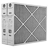 Heating, Cooling & Air Lennox X6675 Carbon Clean 16 MERV 16 Filter 20' x 25' x 5' (2 Pack)