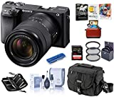Sony Alpha a6400 Mirrorless Digital Camera with 18-135mm f/3.5-5.6 OSS Lens, Bundle with Camera Bag...