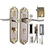 Indoor Handle Door Lock, European Durable Handle Door Lock Cylinder with Keys
