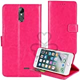 TienJueShi Rosa Book Stand Retro Business Flip Leather Protector Phone Case for Hisense Infinity F24 5.99 inch Cover Etui Wallet