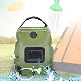 Denshinee Sac de Douche Solaire Camping 20L Voyage Chauffé à L'énergie Solaire Portable Eau...
