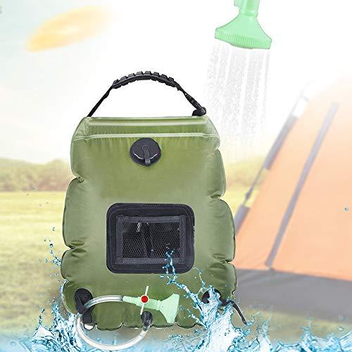Denshinee Sac de Douche Solaire Camping 20L Voyage Chauffé à L'énergie...
