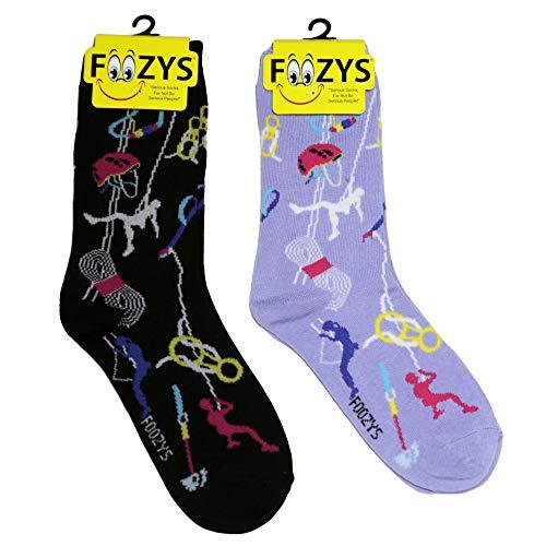 Foozys Women's Crew Socks | Rock climbing Sports Novelty...