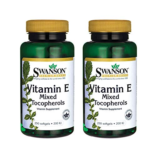 Swanson Vitamin E Mixed Tocopherols 200 Iu (134 Milligrams) 250 Sgels (2 Pack)