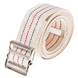 COW&COW Gait Belt 60inch - with Metal Buckle - Transfer Walking and Standing Assist Aid for Caregiver Nurse Therapist 2 inches(Beige)