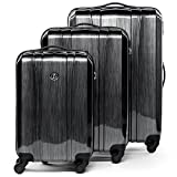 FERGÉ Set 3 valises Voyage Rigide léger Dijon Ensemble de Bagage Trolley...