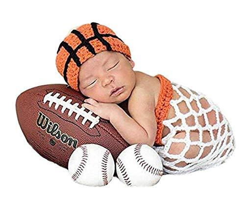 Lppgrace Newborn Baby Boy Basketball Photography Props Crochet...