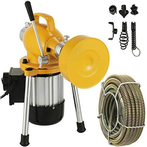 Mophorn Rohrreinigungsmaschine Rohrreinigungsgerät 400W 20mx16mm Rohrreiniger