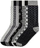 find. Chaussettes à Motifs Élégants Homme (lot de 7), Noir (Grey Black Mix), Large