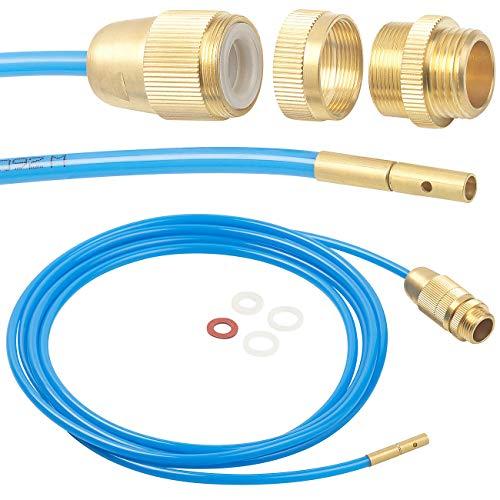 """AGT Rohrreiniger: Hochdruck-Abflussreiniger für M22, M24 & 1/2\"""", mit Dichtungen, 3 m (Hochdruckreiniger)…"""