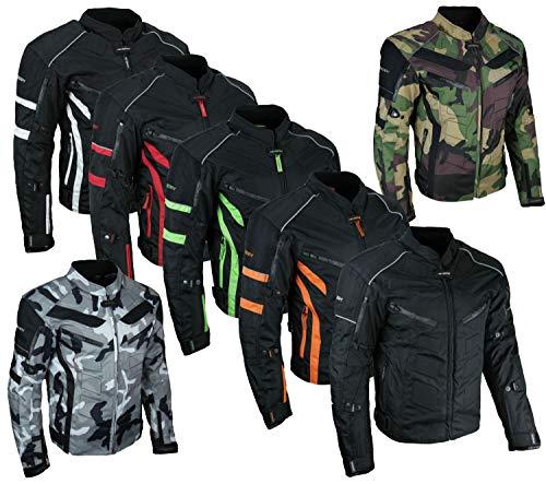 HEYBERRY Kurze Textil Motorrad Jacke Motorradjacke Schwarz Rot Gr. XL