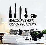 Pared de vinilo salón de belleza cosméticos maquillaje pegatinas de pared salón de belleza decoración de la ventana