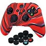 YoRHa Silicone Thickened Cover Skin Case for Xbox Series X/S Controller x 1(Camouflage Red) with...