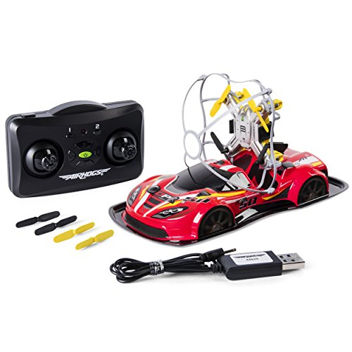 Air Hogs - 2-in-1 Drone Power Racers for Driving and Flying - Sports Car - Red