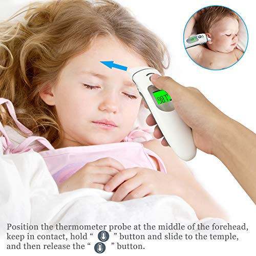 Amplim-Hospital-Medical-Grade-Digital-Infrared-EarTemporal-Forehead-Thermometer-Pouch-for-AdultBabyKidToddlerInfantNurse-Best-for-Head-Fever-Temperatures-Termometro