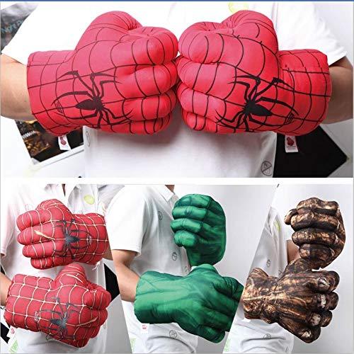 Sportuli - Guanti da boxe in peluche, per bambini, super eroe, per cosplay, 1 paio, Hulk