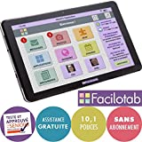 FACILOTAB Tablette L 10,1 Pouces WiFi/3G+ - 32 Go - Android 9 (Interface...