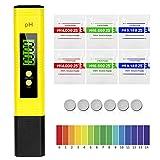 MTURE PH Mètre Numérique, Testeur de qualité de l'eau digital LCD, Plage de...