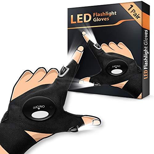 Angelzubehör LED Handschuhe Geschenke für Männer - Angeln Geschenk Handschuhe mit Wasserdichtem...