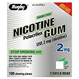 Rugby Nicotine Gum Coated Mint 2 Mg 100
