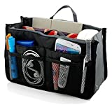 Go Beyond (TM) Makeup Organizer Bag, Travel Compartment Handbag with 13 Inserts Holder, Best for...